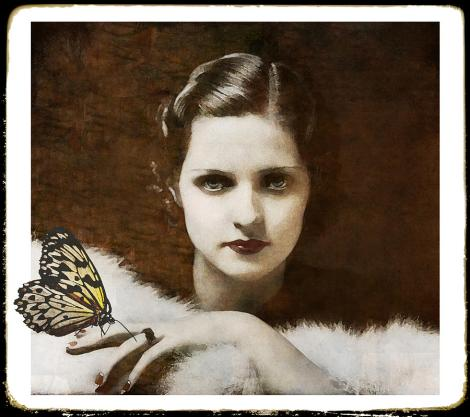Madame Butterfly Digital Art - Madame Butterfly Fine Art Print - Marie Gale